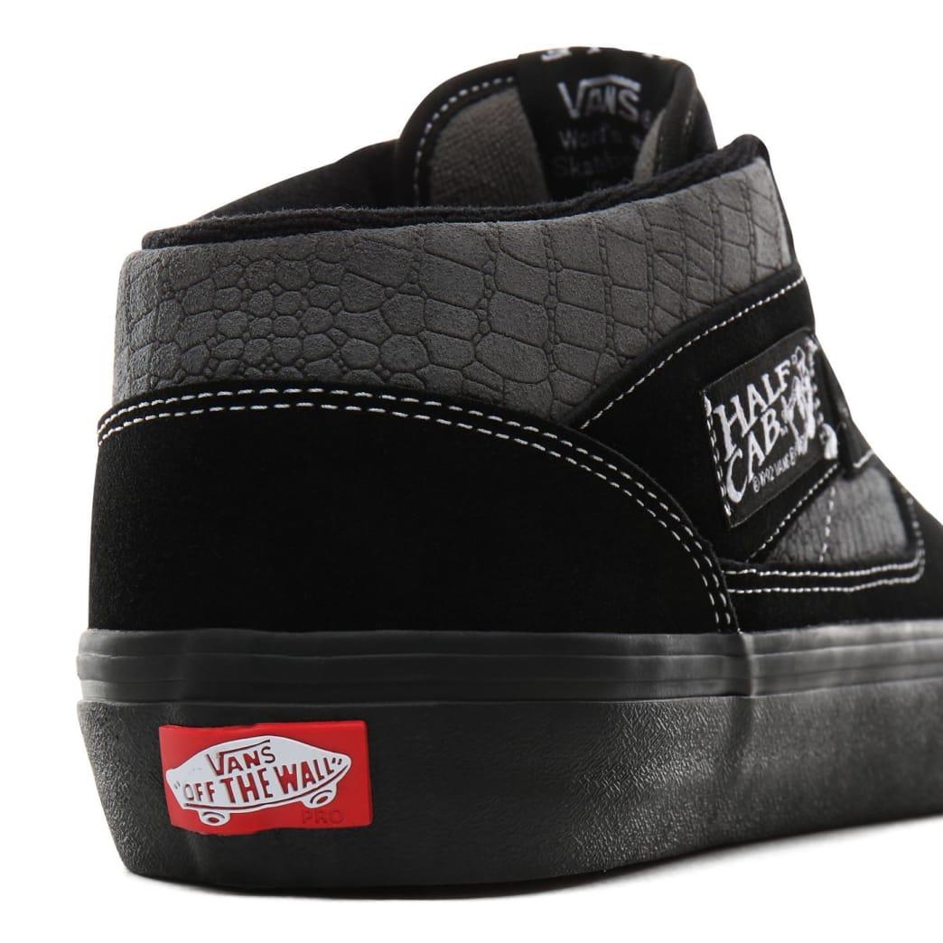 Vans Croc Half Cab Pro Skate Shoes - Black / Pewter | Shoes by Vans 6