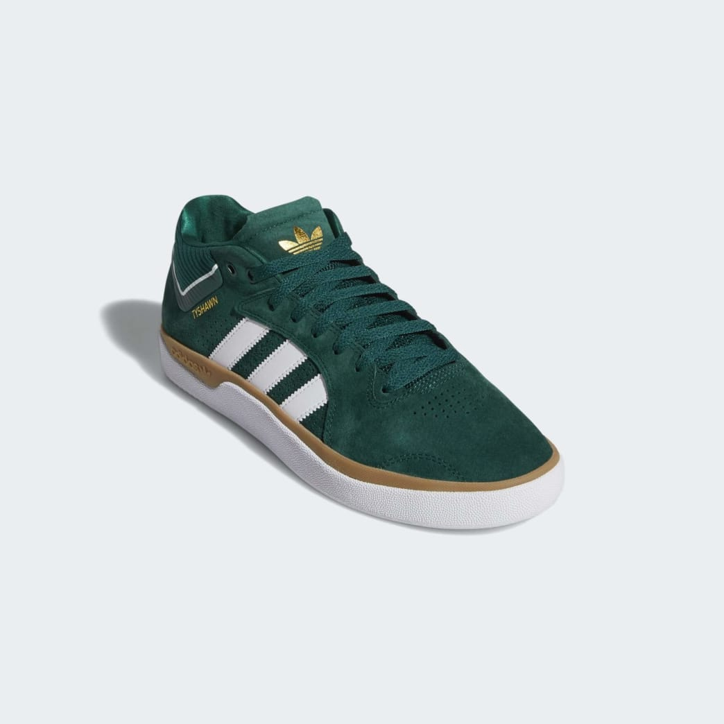 adidas Tyshawn Jones Shoes - Collegiate Green/Cloud White/Gum | Shoes by adidas Skateboarding 4