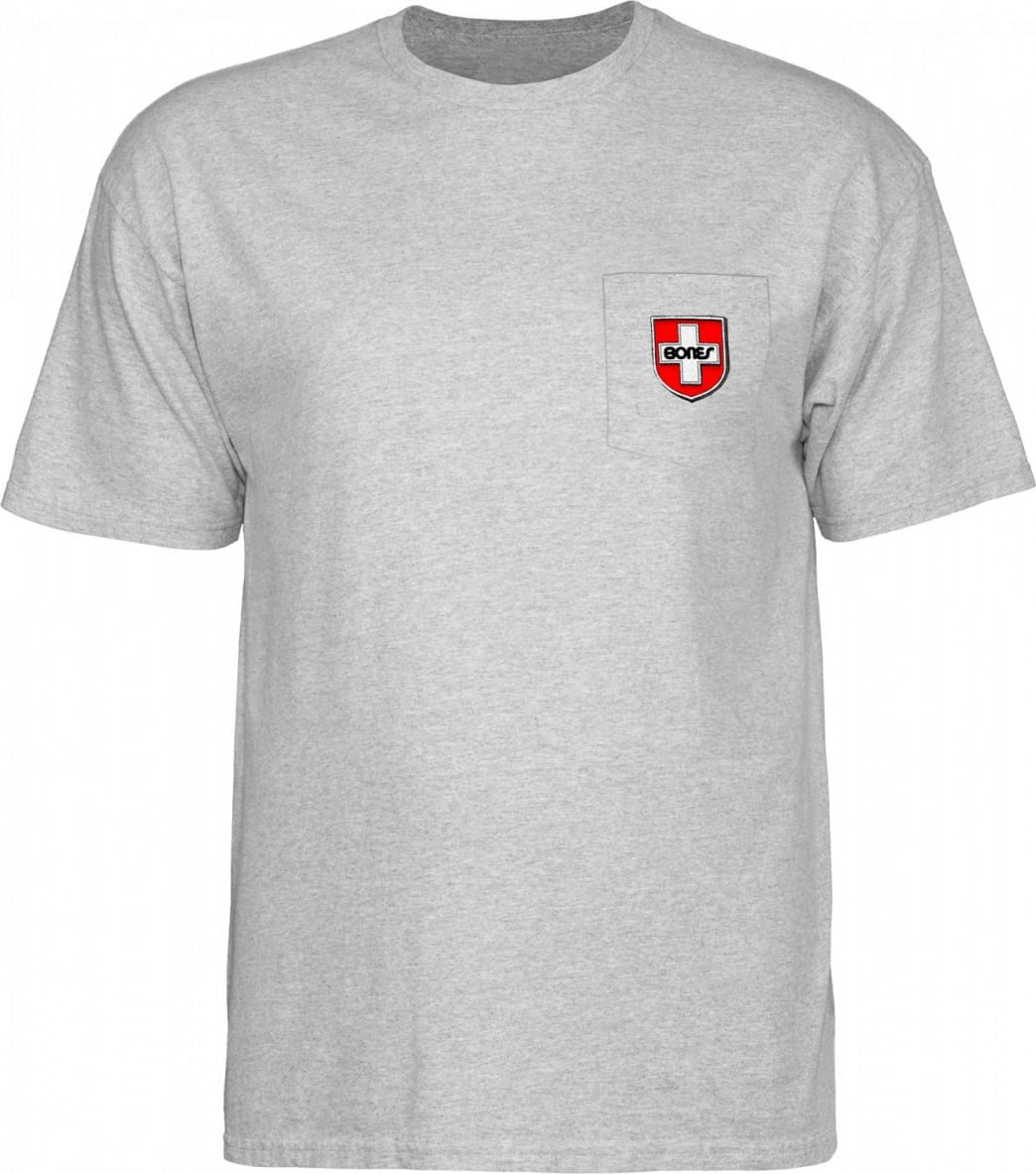 Bones Swiss Shield Pocket (Heather) | T-Shirt by Bones 1