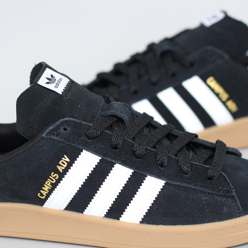 adidas Campus Advance Shoes Core Black / Footwear White / Gum 4 | Shoes by adidas Skateboarding 6