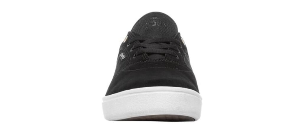 Emerica Figgy Dose Skate Shoes - Black / White / Gold | Shoes by Emerica 5