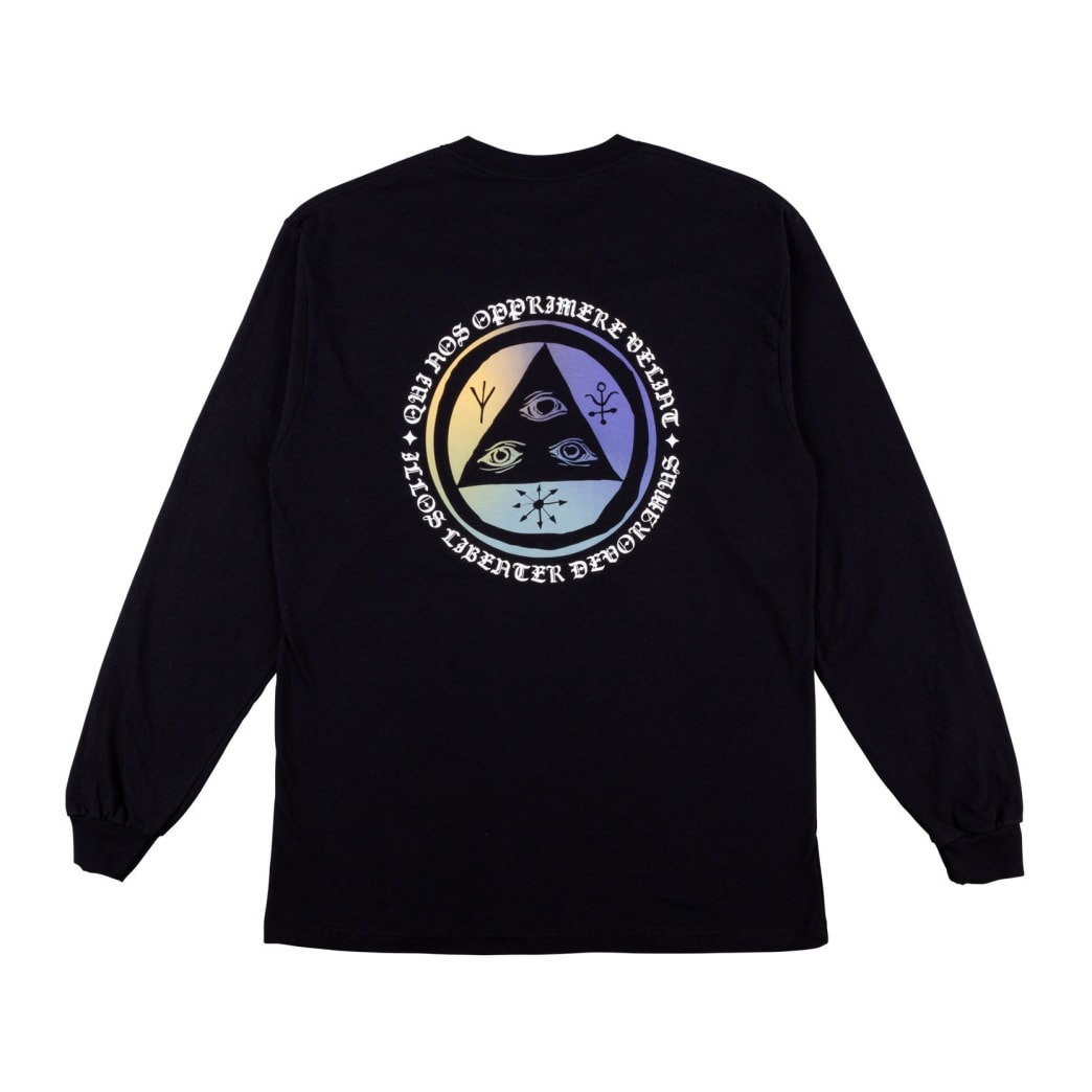 Welcome Skateboards Latin Talisman Premium Long Sleeve T-Shirt - Black / Sunset | Longsleeve by Welcome Skateboards 1