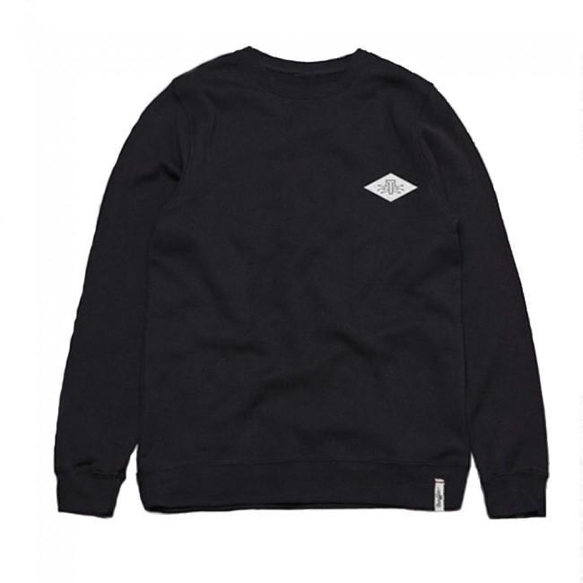 Traffic Skateboards Electric T Crewneck Sweatshirt - Black   Sweatshirt by Traffic Skateboards 1