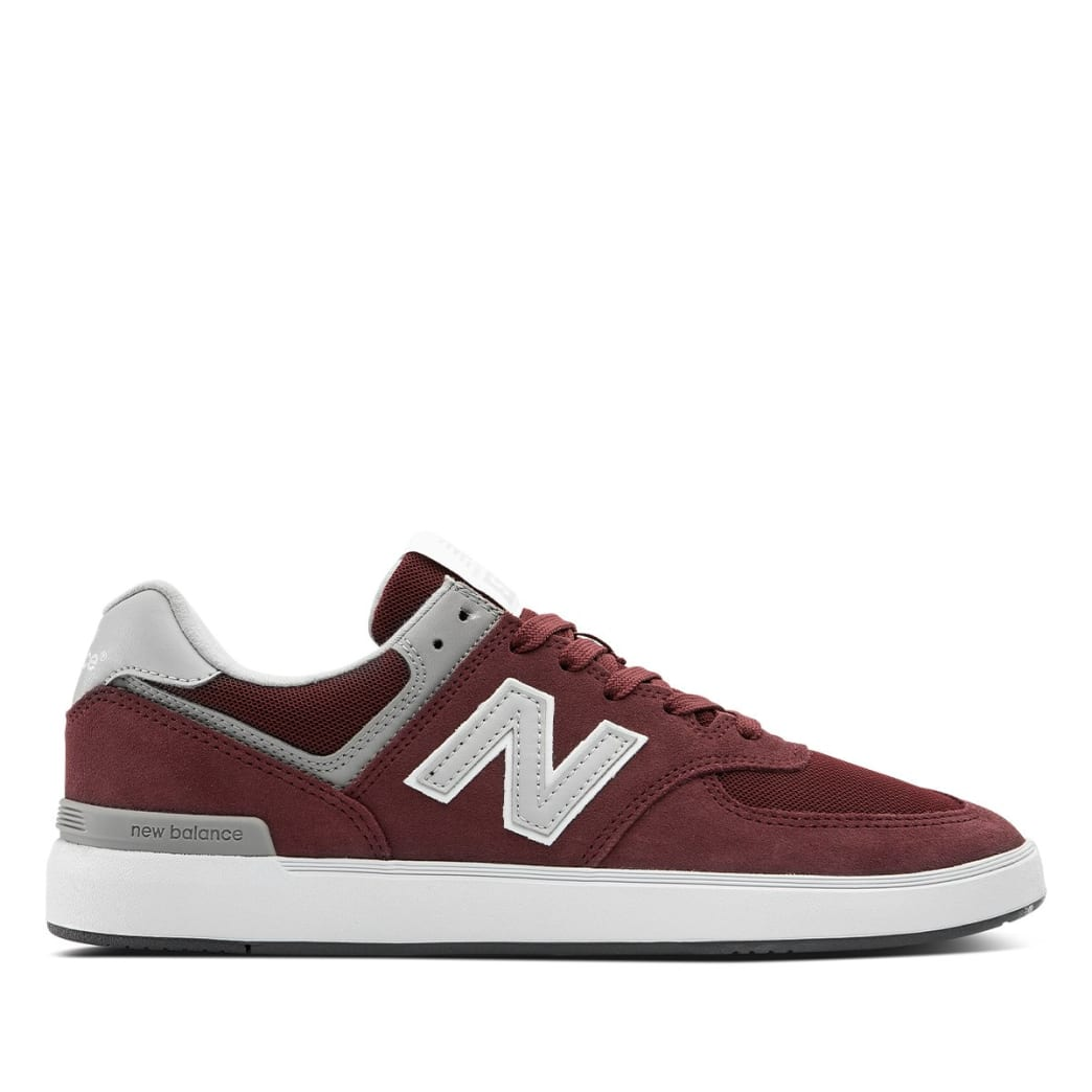 New Balance Numeric All Coasts 574 Skate Shoe - Burgundy / Grey | Shoes by New Balance 1