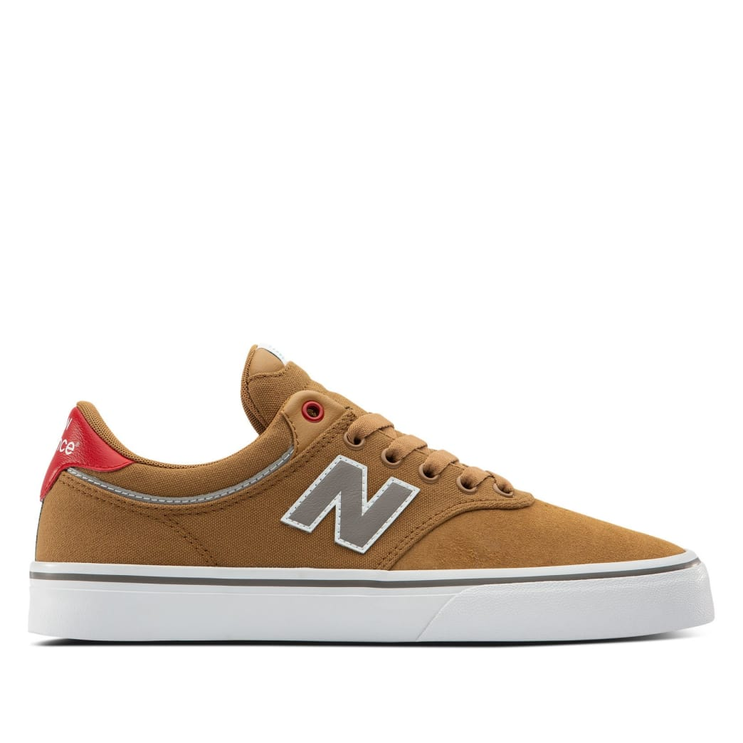 New Balance Numeric 255 Skate Shoe - Brown / Red | Shoes by New Balance 1