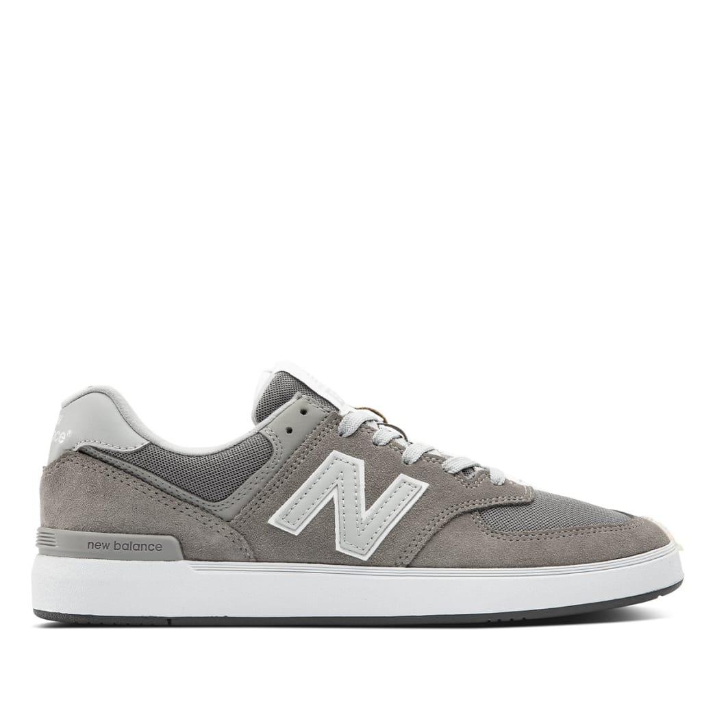 New Balance Numeric All Coasts 574 Skate Shoe - Grey / White | Shoes by New Balance 1