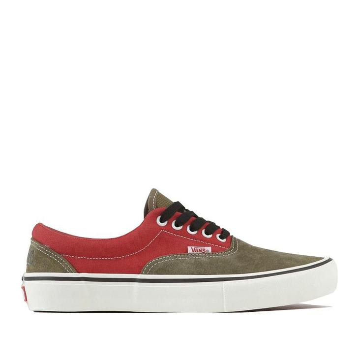 Vans x Lotties Era Pro LTD Skate Shoes - Red / Military | Shoes by Vans 1