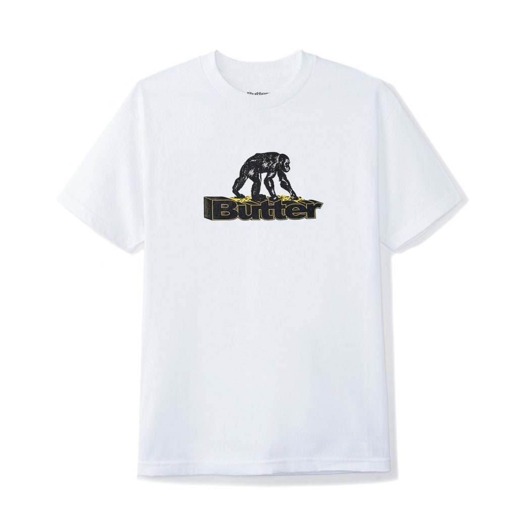 Butter Goods Primate T-Shirt - White | T-Shirt by Butter Goods 1