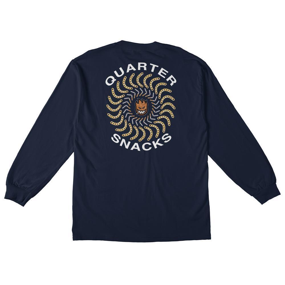 Spitfire x Quartersnacks Quarter Classic Long Sleeve T-Shirt - Navy | Longsleeve by Spitfire Wheels 1