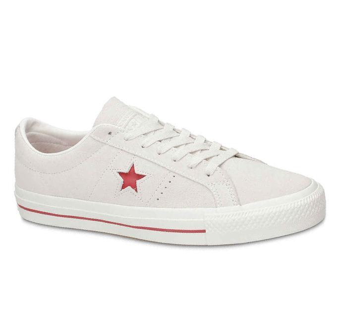 Converse Cons One Star Pro Ox Skate Shoe - Egret / Claret Red / Egret | Shoes by Converse Cons 2