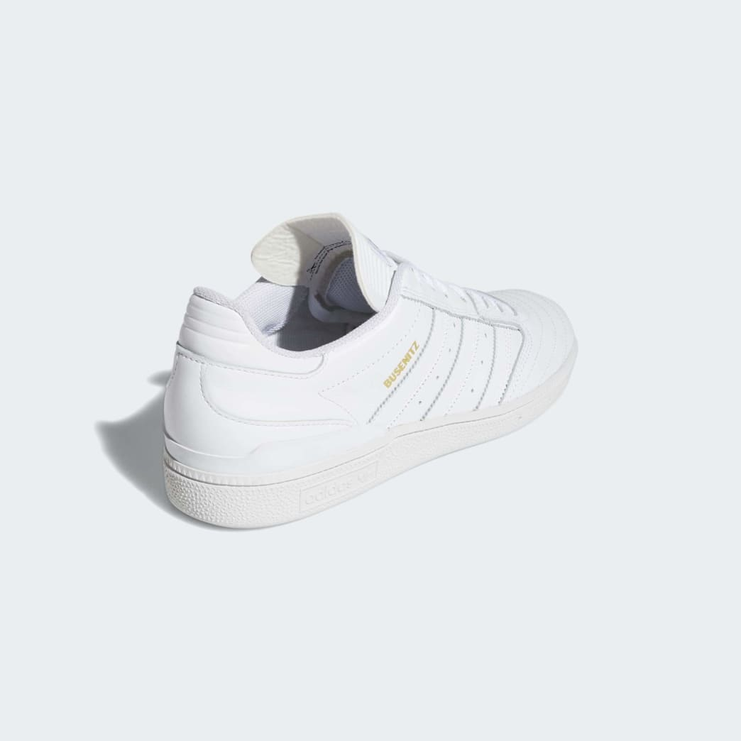Adidas Busenitz Shoes - Cloud White/Gold Metallic/Cloud White | Shoes by adidas Skateboarding 5