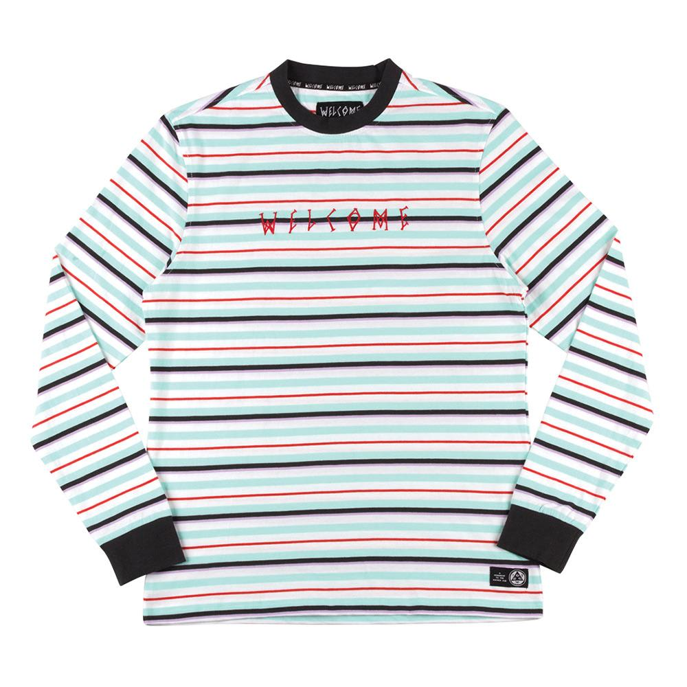 Welcome Surf Stripe Longsleeve T-Shirt - White-Red | Longsleeve by Welcome Skateboards 1