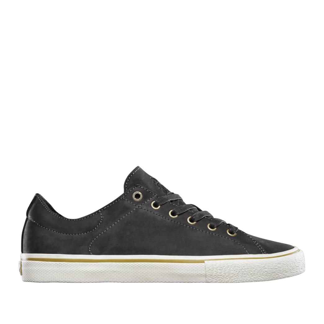 Emerica Omen Lo x Sasha Barr Reserve Skate Shoes - Black Raw | Shoes by Emerica 1
