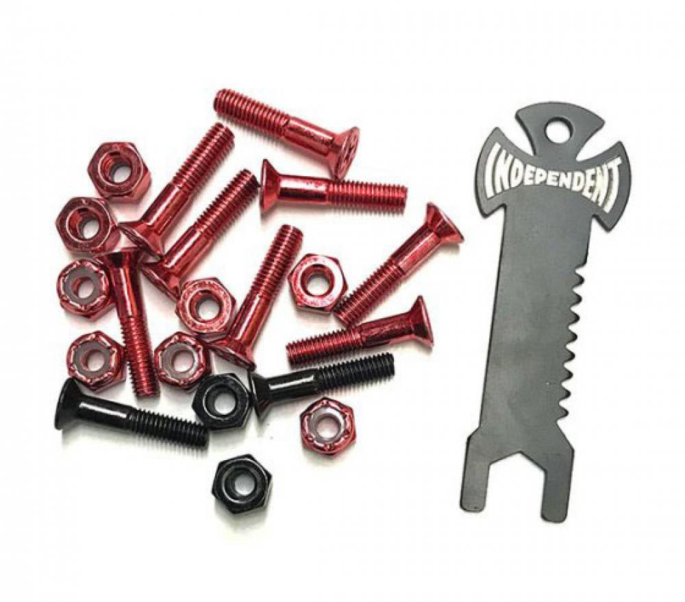 Indy Bolts Phillips Red/Black 1"