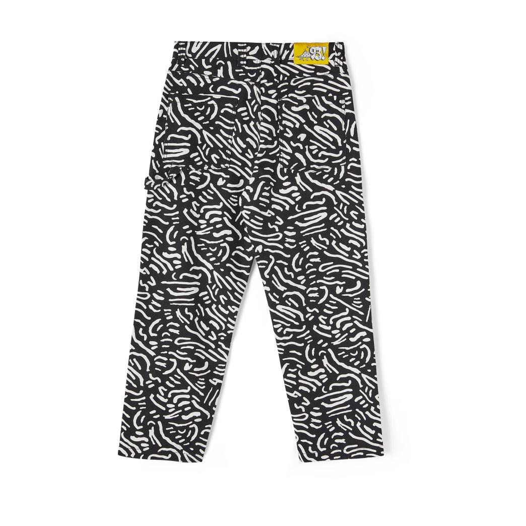 Polar Skate Co '93 Canvas Cell Pant - Black / White   Jeans by Polar Skate Co 2