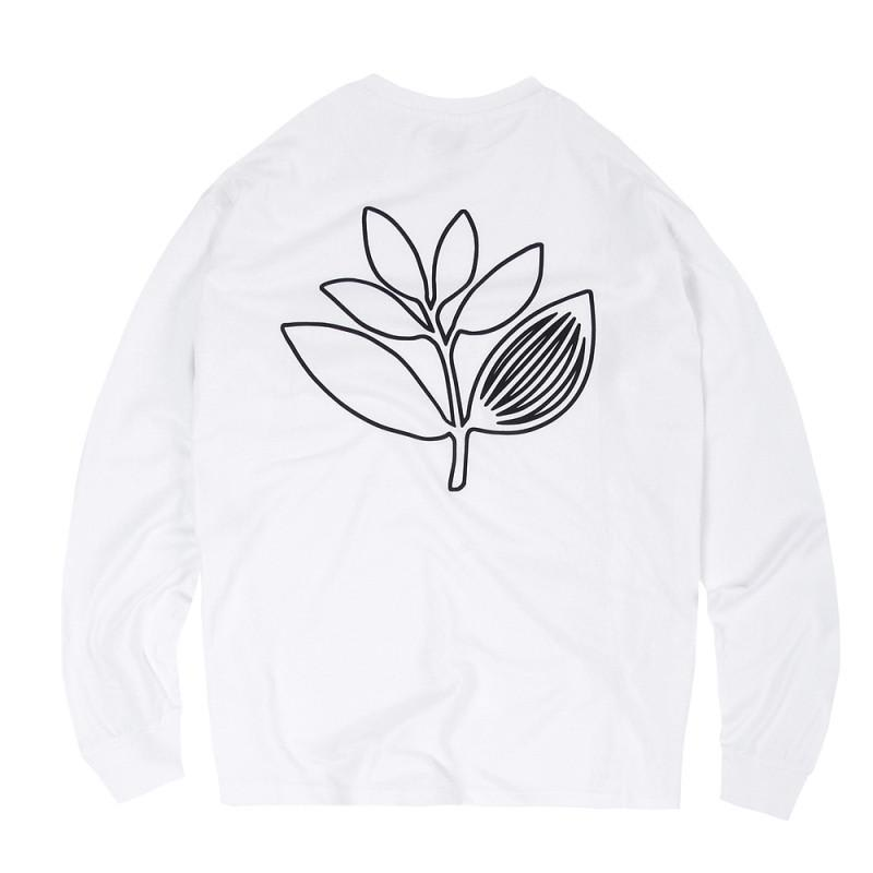 Magenta Skateboards Outline Long Sleeve T-Shirt - White | Longsleeve by Magenta Skateboards 1
