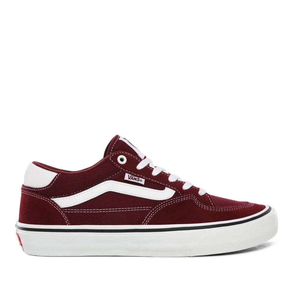 Vans Rowan Pro Skate Shoes - Port / White | Shoes by Vans 1