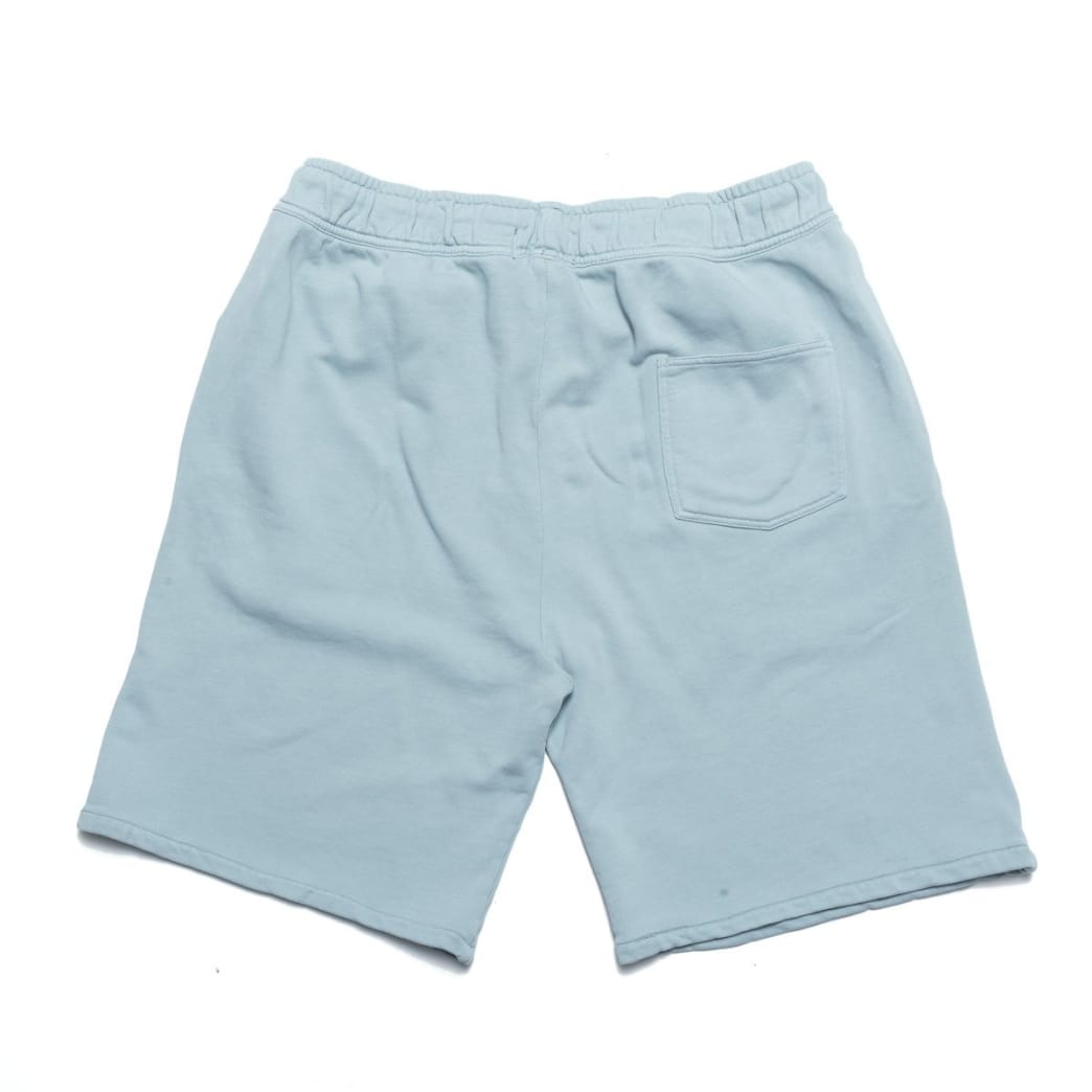Chrystie NYC Garment Dye Classic Logo French Terry Sweat Shorts - Washed Blue | Shorts by Chrystie NYC 2