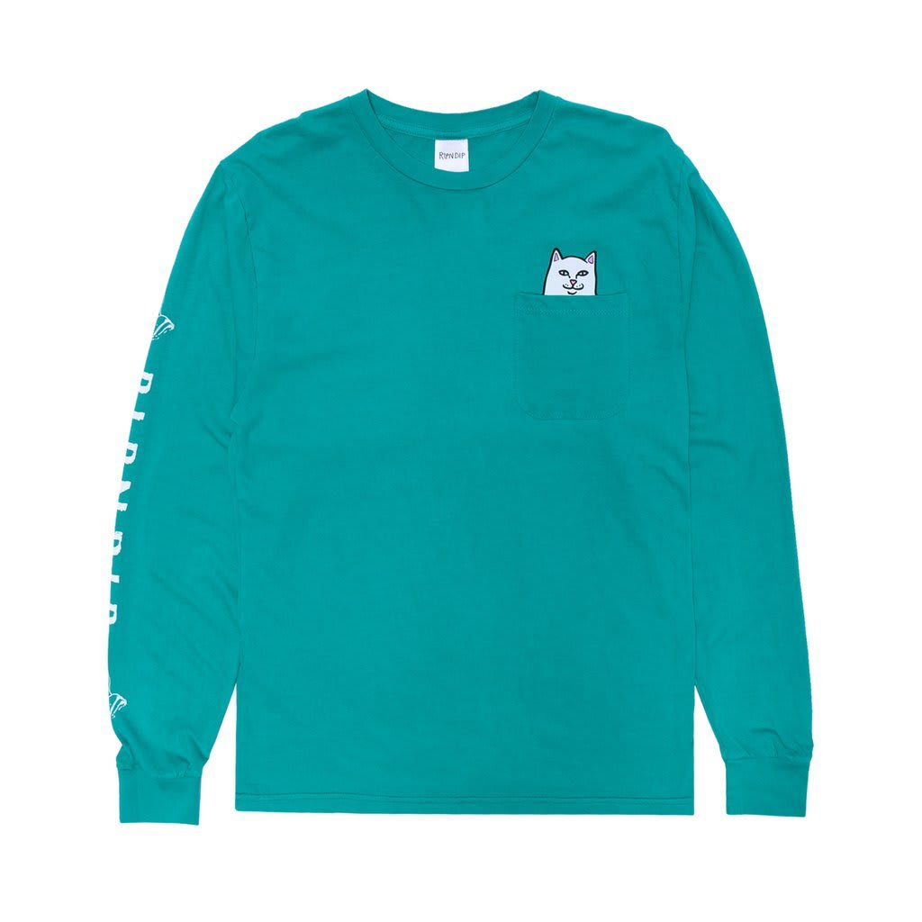 RipnDip Lord Nermal Pocket Tee Long Sleeve | Longsleeve by Ripndip 1