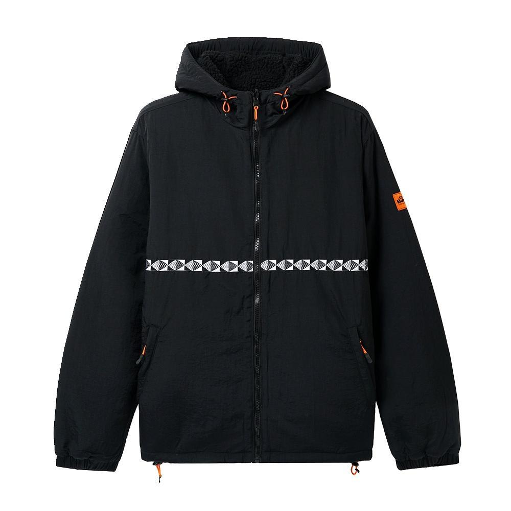 Butter Goods Base Camp Reversible Sherpa Jacket - Black / Black | Jacket by Butter Goods 1