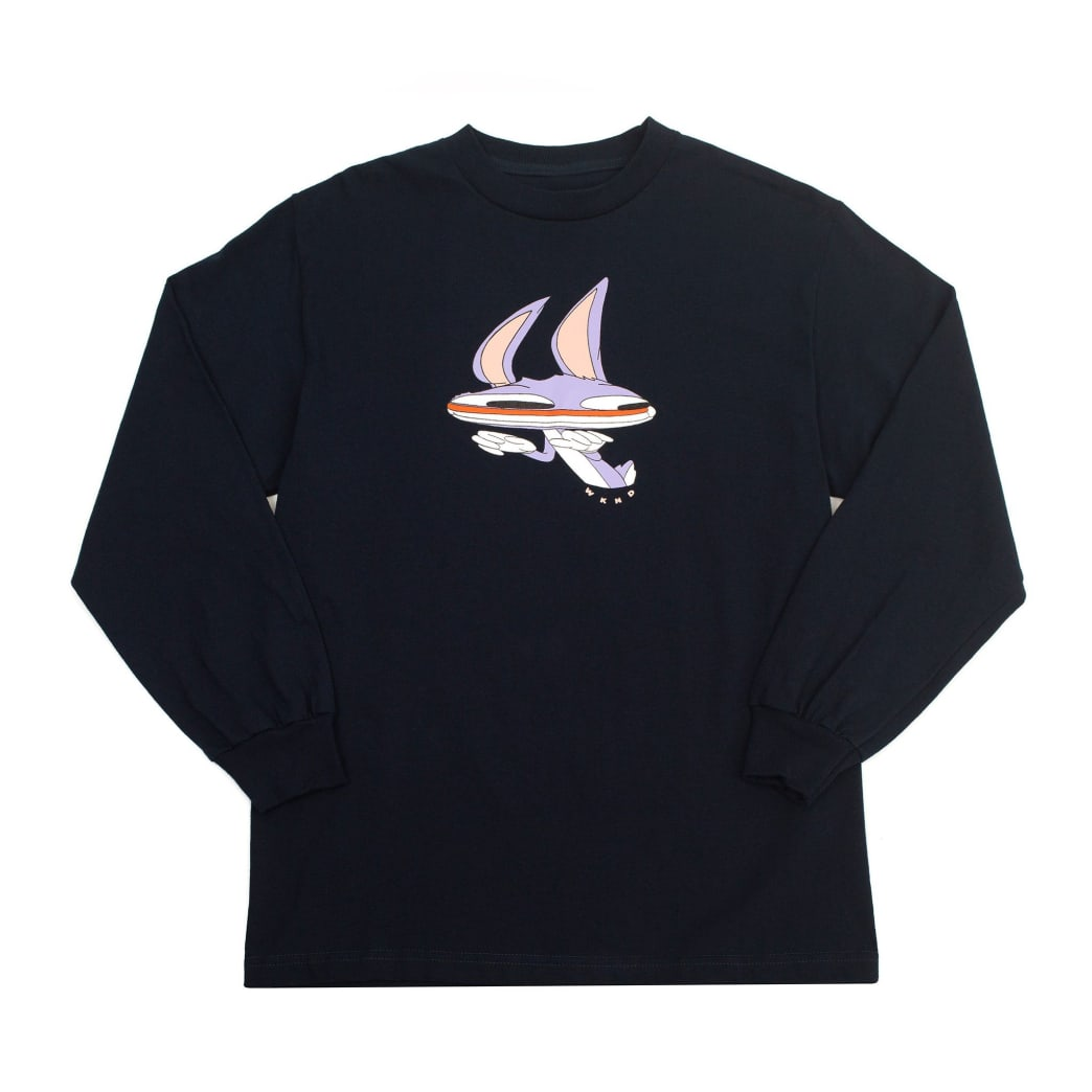 WKND Welcome to Earth Long Sleeve T-Shirt - Navy | Longsleeve by WKND 1