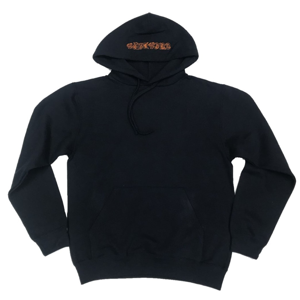 Tuesdays 'Ye Olde' Embroidered Hood Navy/Safety Orange | Hoodie by Tuesdays Skate Shop 2