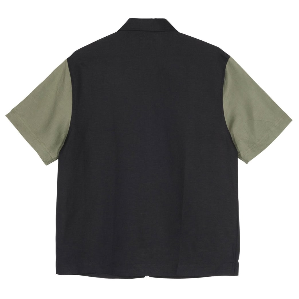 Stussy - Color Block Zip Work Shirt - Olive | Shirt by Stussy 2