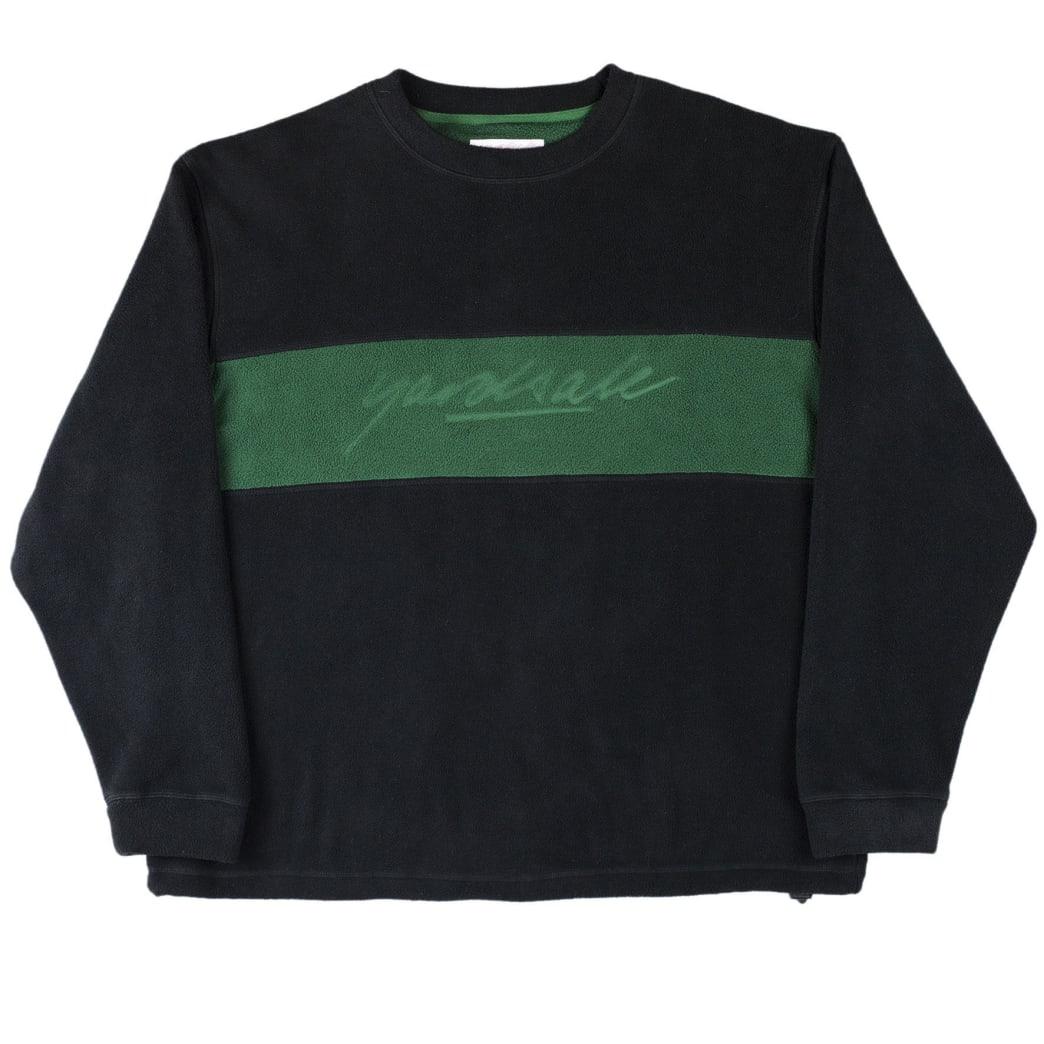 Yardsale Embossed Fleece Crewneck - Black / Forest Green   Sweatshirt by Yardsale 1
