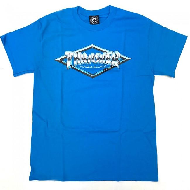 Thrasher Skateboard Magazine Diamond Emblem T-Shirt - Sapphire | T-Shirt by Thrasher 1