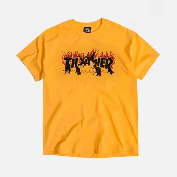 Thrasher - Crows SS (Gold)   T-Shirt by Thrasher 1