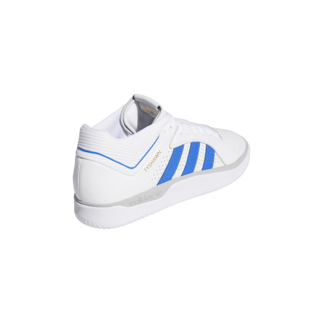 adidas Tyshawn Jones Skate Shoes - Cloud White / Blue / Gold Metallic | Shoes by adidas Skateboarding 6