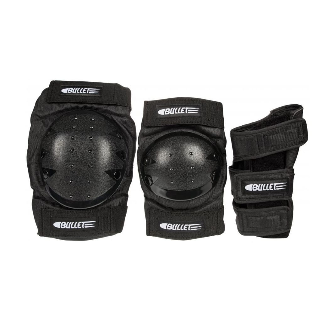 Bullet Deluxe Combo Padset - Black | Pads by Bullet Skateboards 1