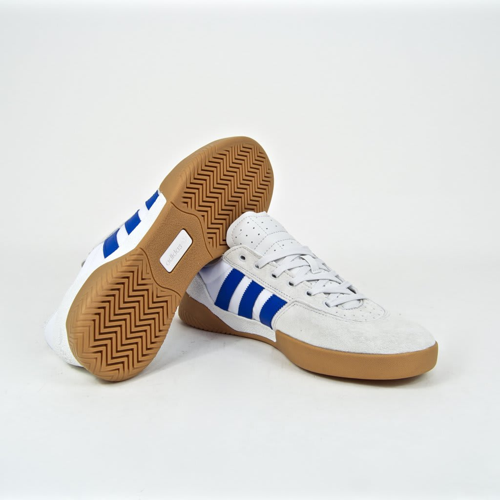 Adidas Skateboarding - City Cup Shoes - Crystal White / Blue / Gum 4 | Shoes by adidas Skateboarding 3
