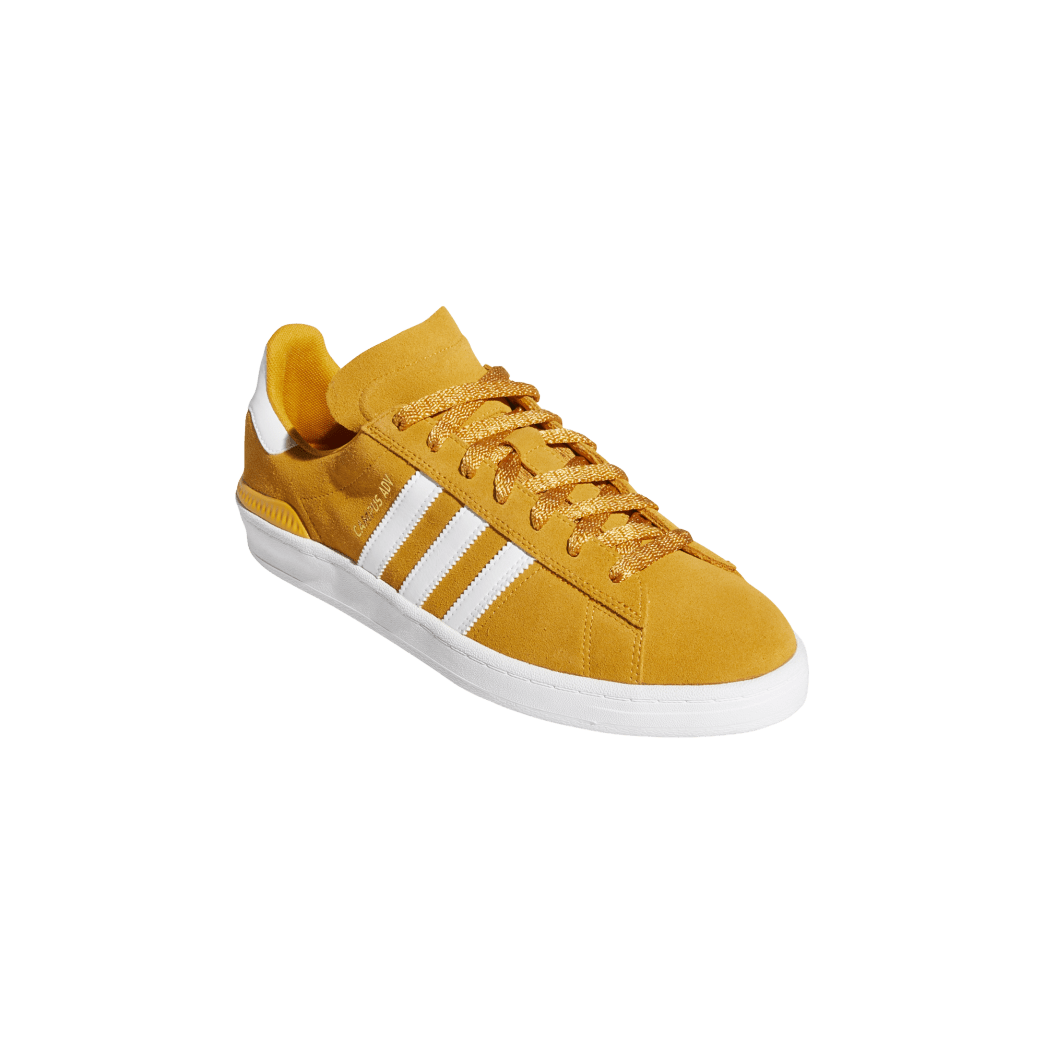adidas Campus ADV Skate Shoes - Tactile Yellow / Cloud White / Gold Metallic | Shoes by adidas Skateboarding 5
