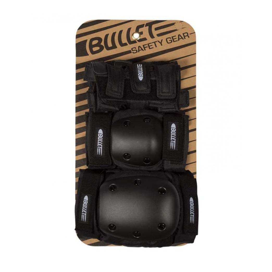 Bullet Deluxe Combo Padset - Black | Pads by Bullet Skateboards 2