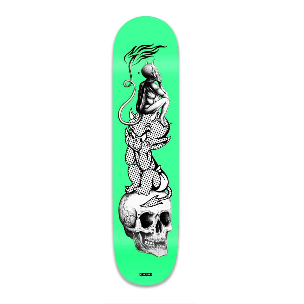 "Quasi Hot Baby Skateboard Deck Green - 8.625"" | Deck by Quasi Skateboards 1"
