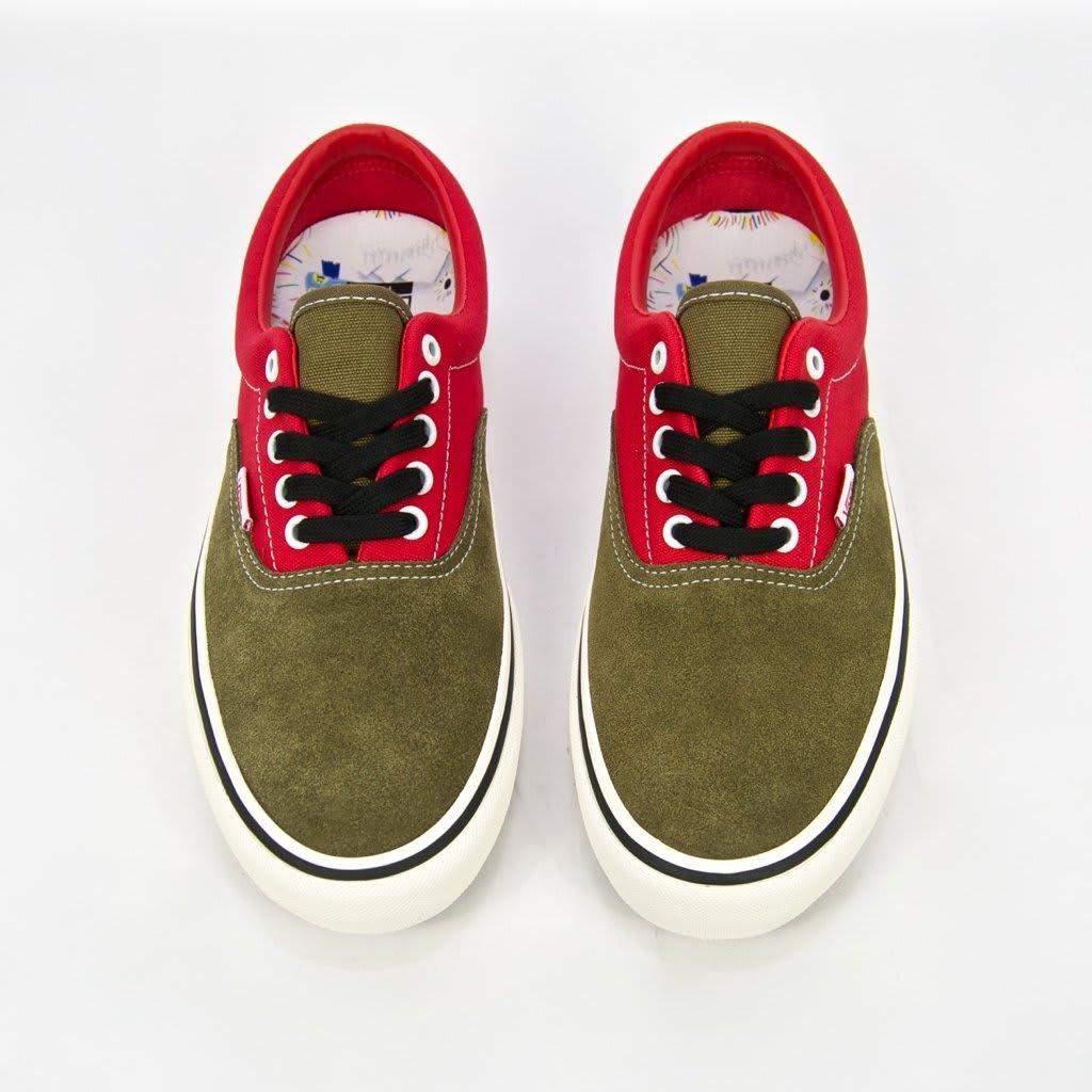 Vans x Lotties Era Pro LTD Skate Shoes - Red / Military | Shoes by Vans 5