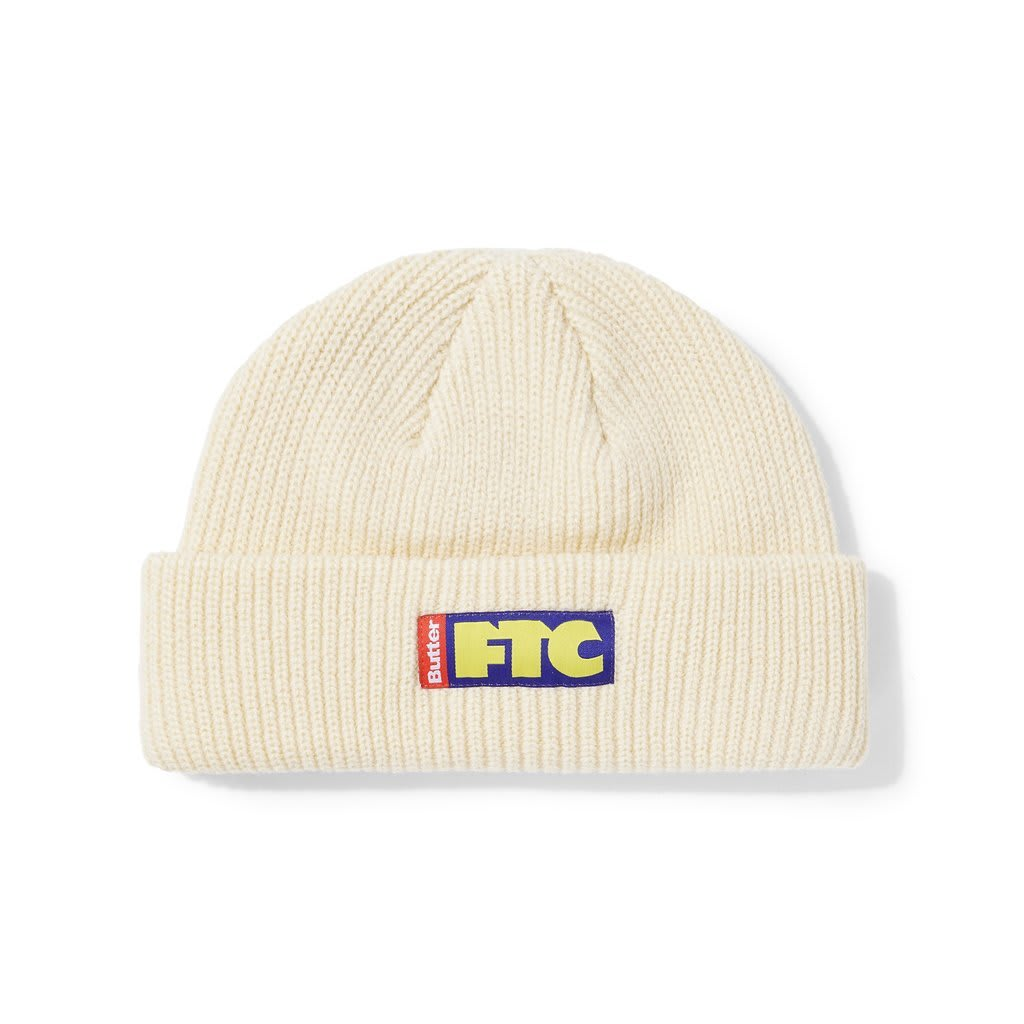 Butter Goods FTC Flag Wharfie Beanie - Cream | Beanie by Butter Goods 1