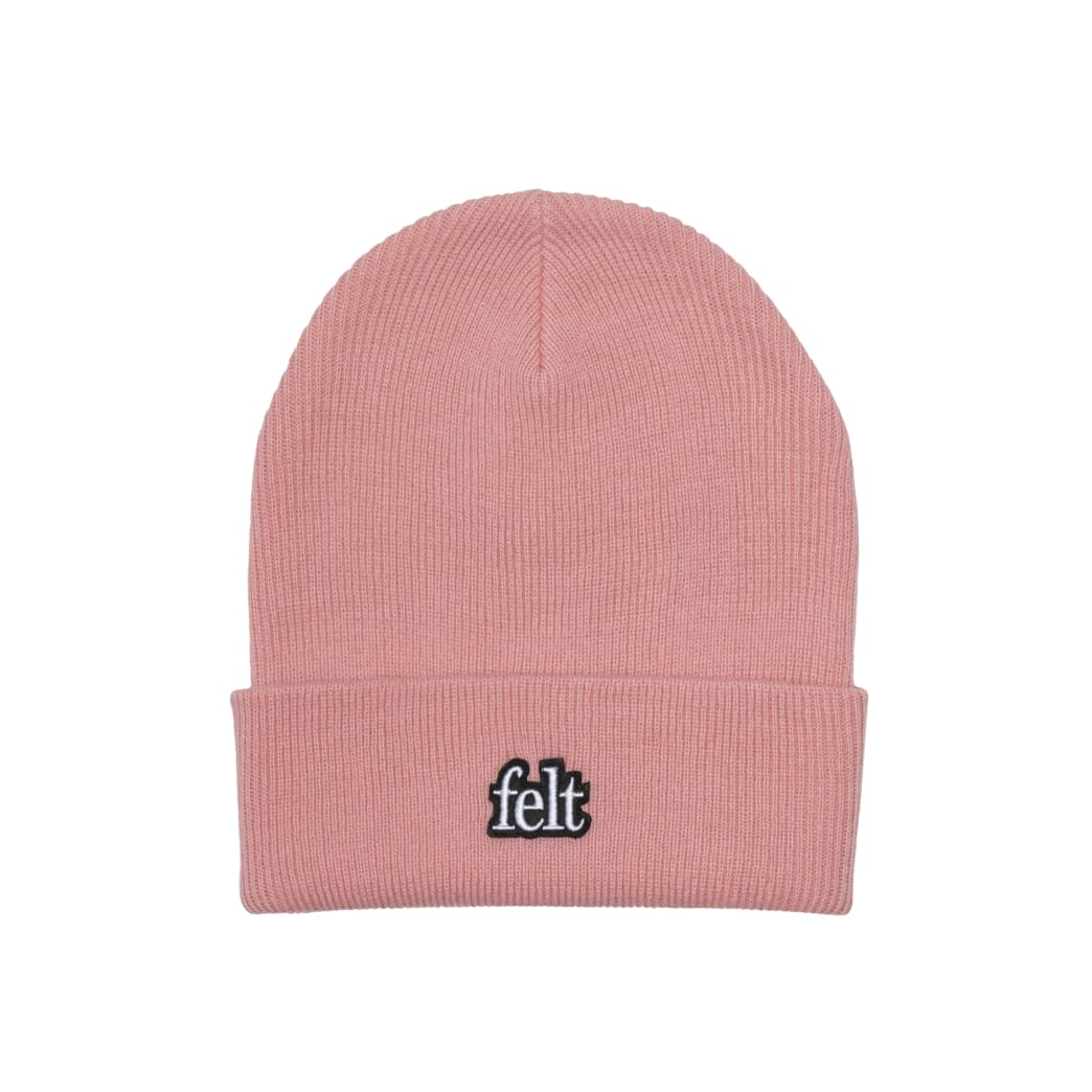 "FELT- ""GAUGE KNIT BEANIE"" (BLUSH PINK) 