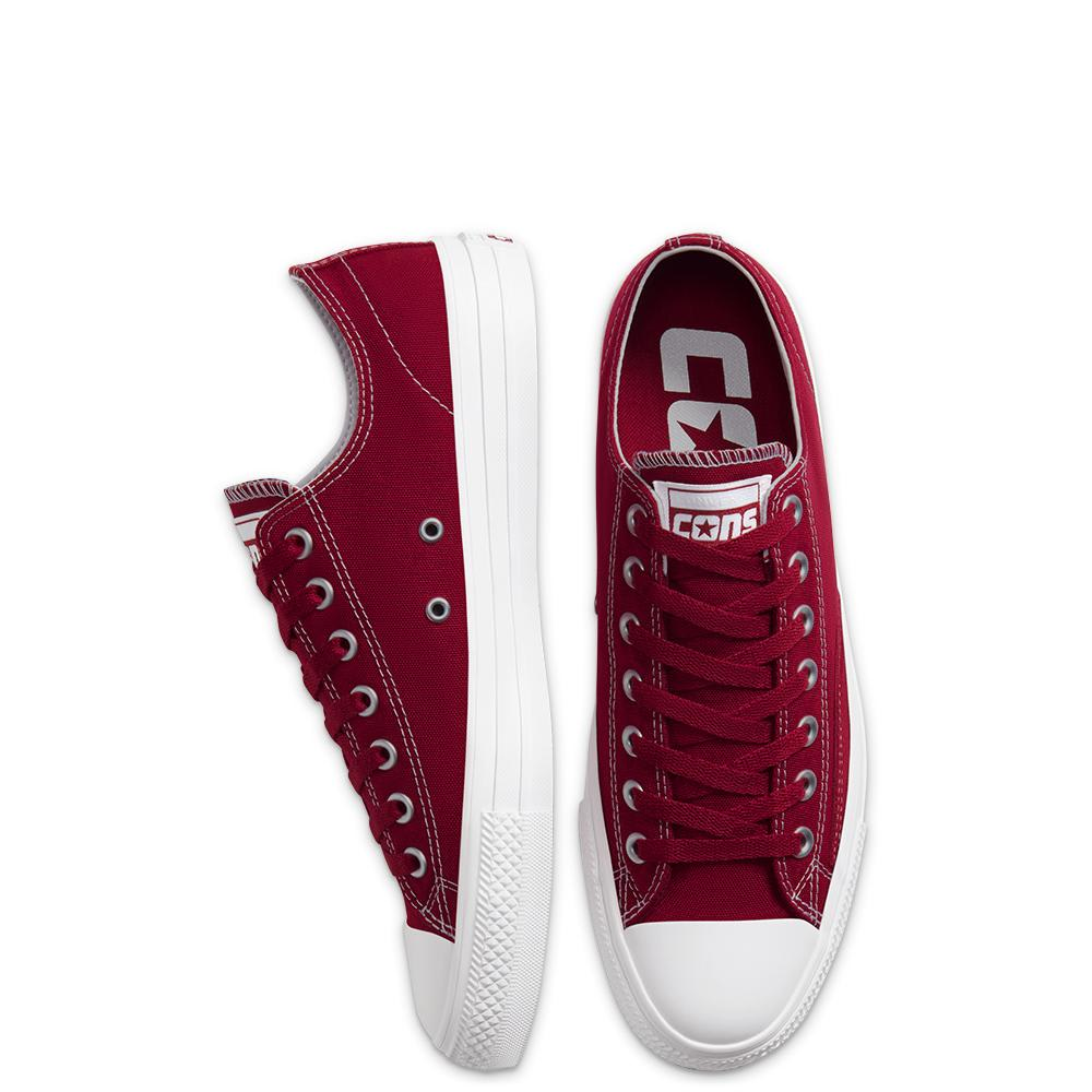 Converse Cons Suede Ollie Patch CTAS Pro Low Skate Shoes - Team Red / White / White | Shoes by Converse Cons 4