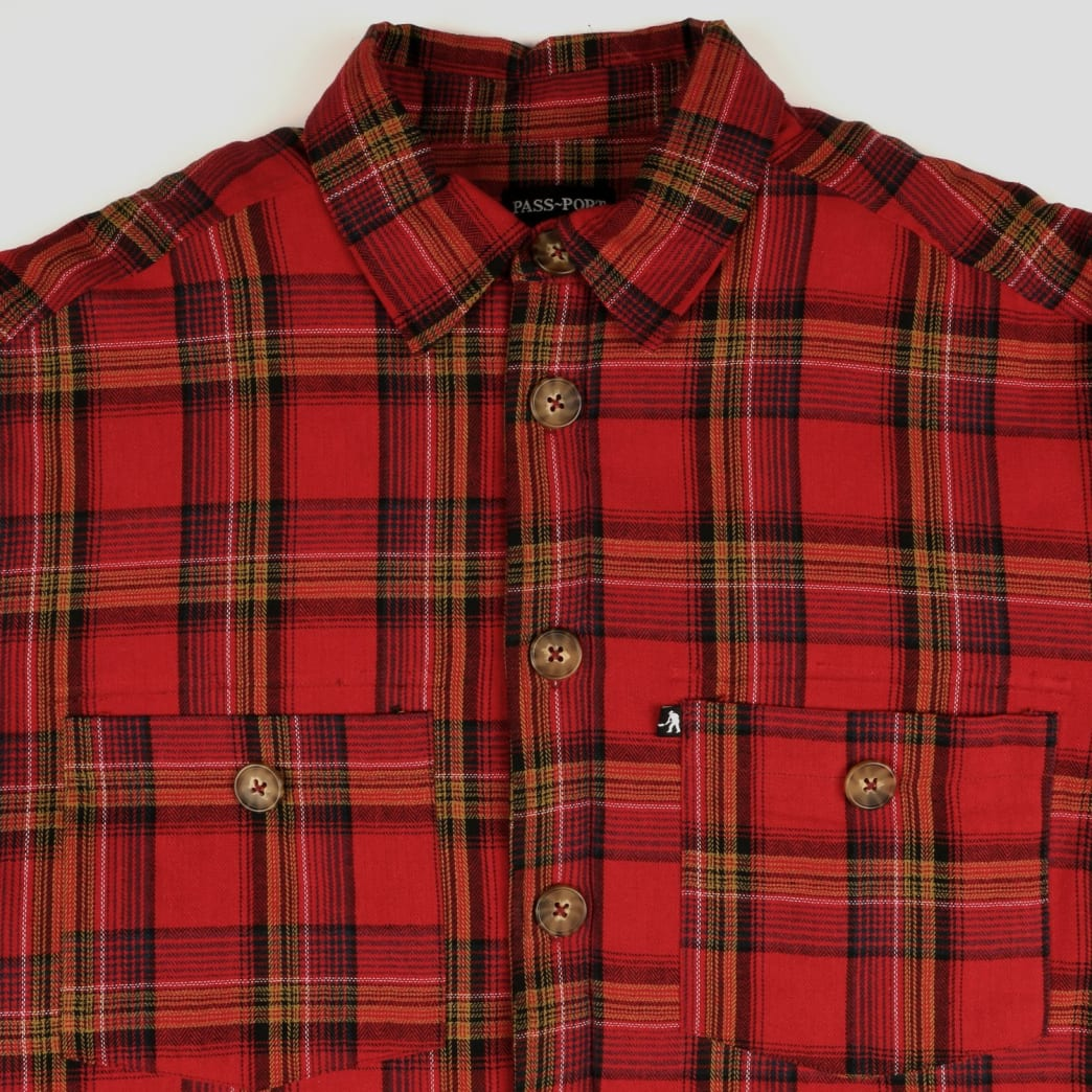 Pass~Port Late Quilted Flannel Jacket - Red | Jacket by Pass~Port Skateboards 3