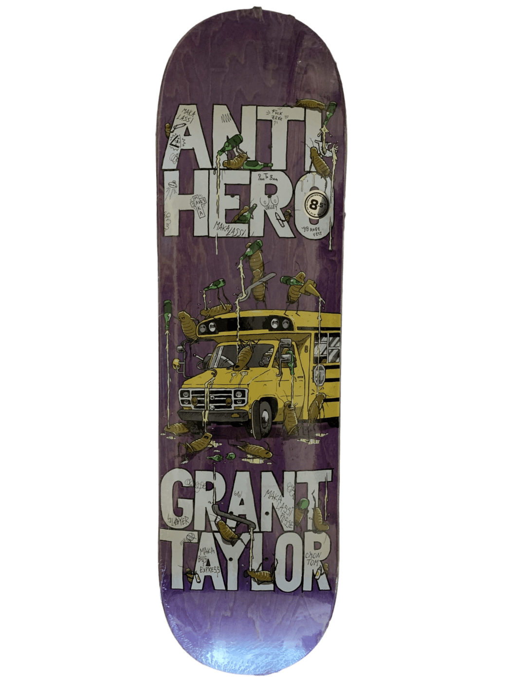 Antihero Grant Taylor Maka Bus Skateboard Deck - 8.5"