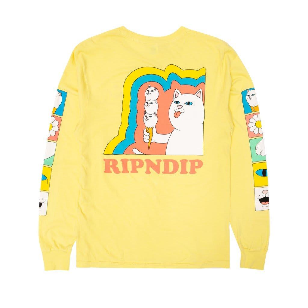 Genuine Rip N Dip Nermio Longsleeve T-Shirt Large Aqua Elbow Wash