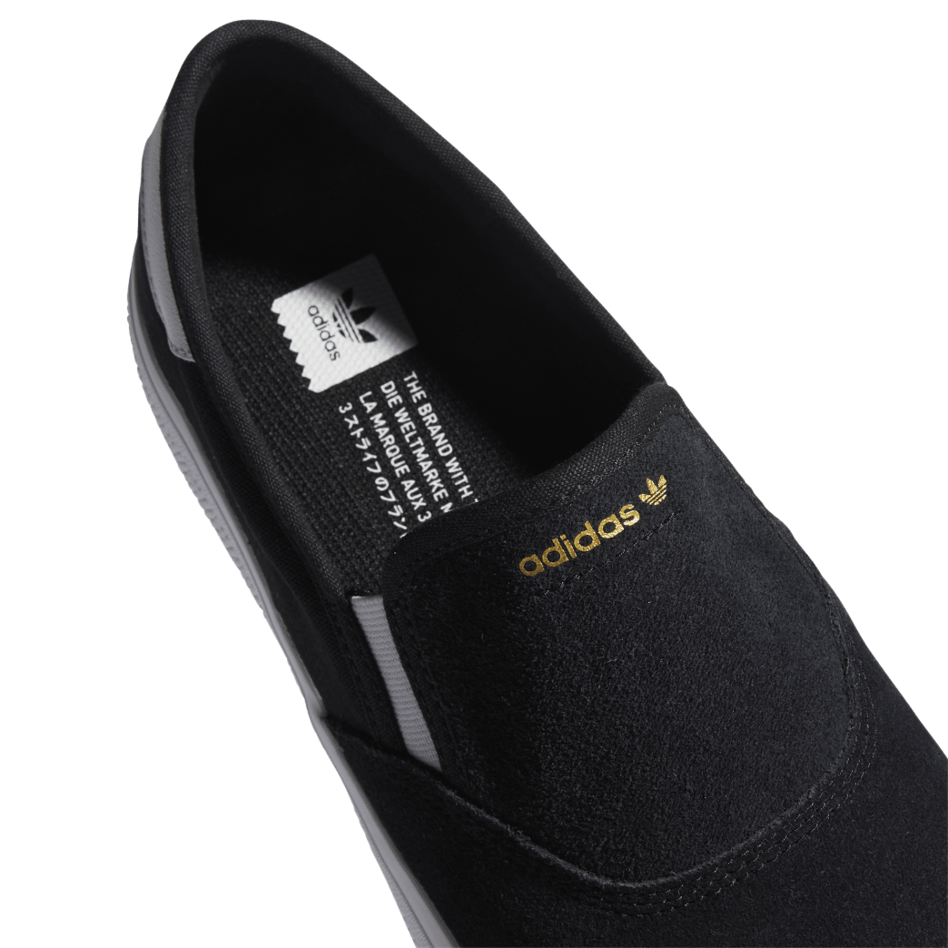 adidas 3MC Slip-On Skate Shoes - Core Black / FTWR White / Gold Met   Shoes by adidas Skateboarding 7