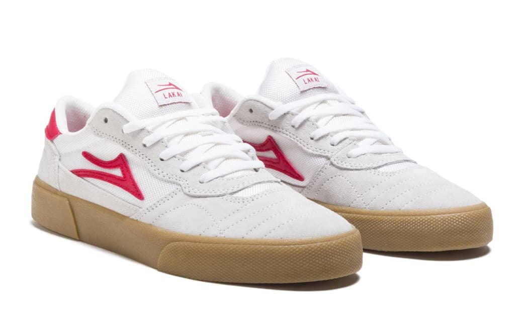 Lakai Cambridge Suede Skate Shoes - White / Red | Shoes by Lakai 2