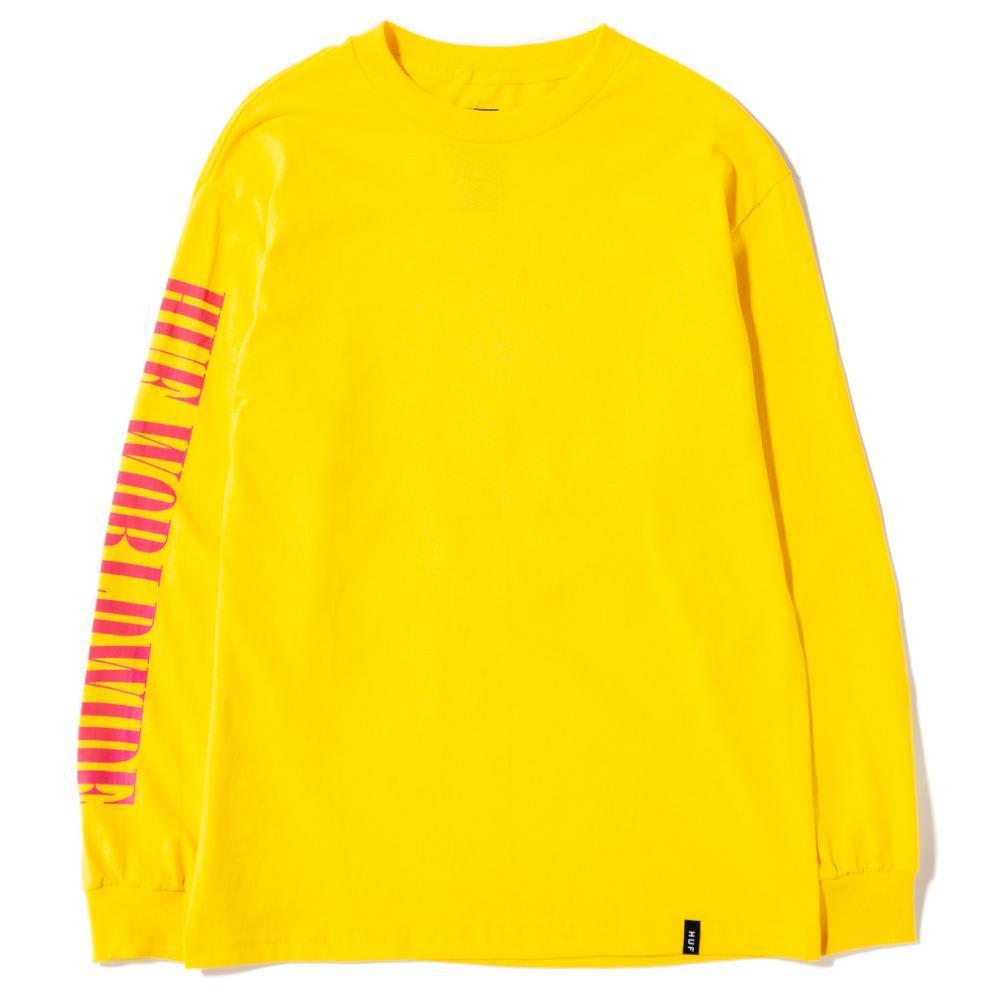 HUF - HUF Jungle TT Long Sleeve T-Shirt | Yellow | T-Shirt by HUF 2