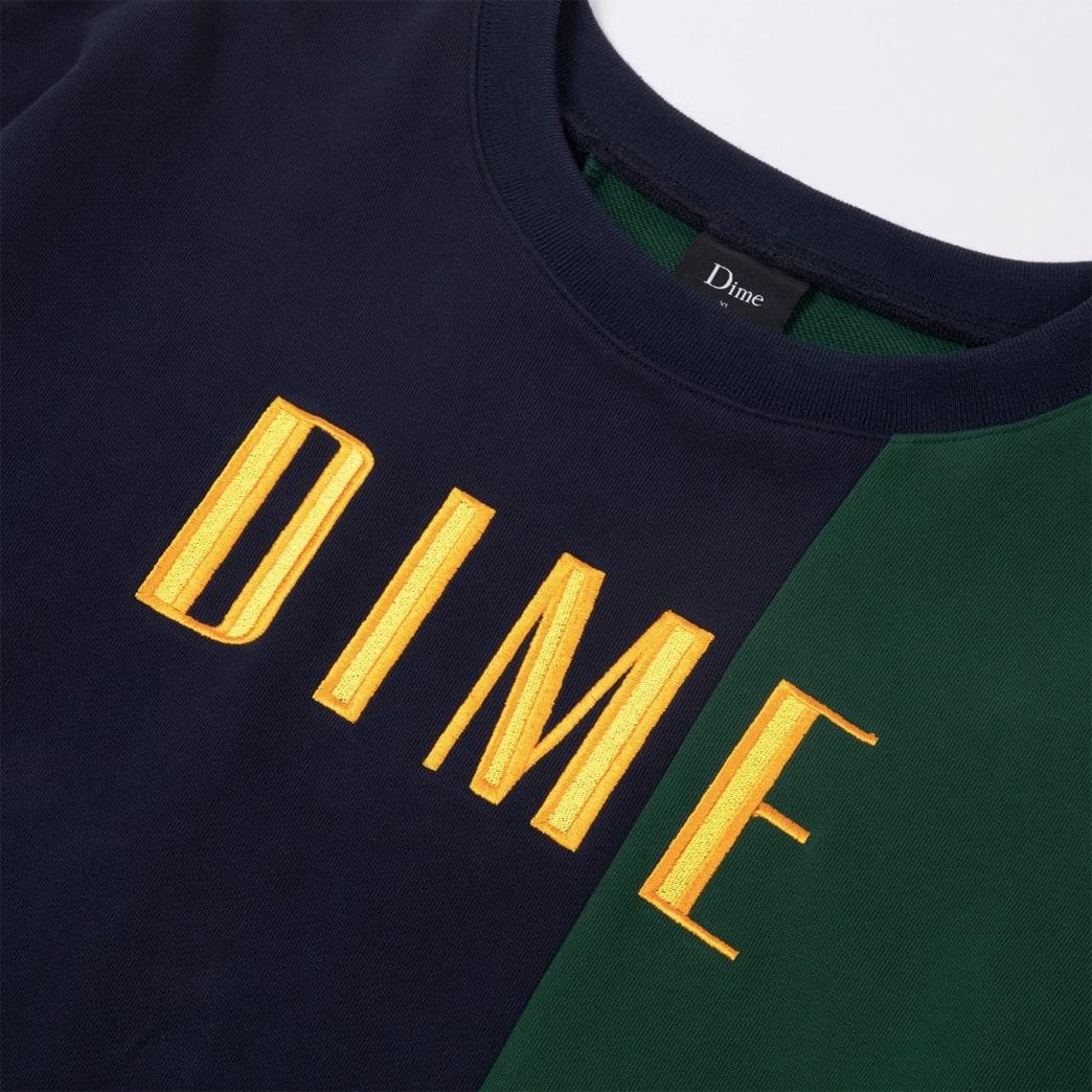 Dime Block Terry Crewneck - Navy / Green | Sweatshirt by Dime MTL 2