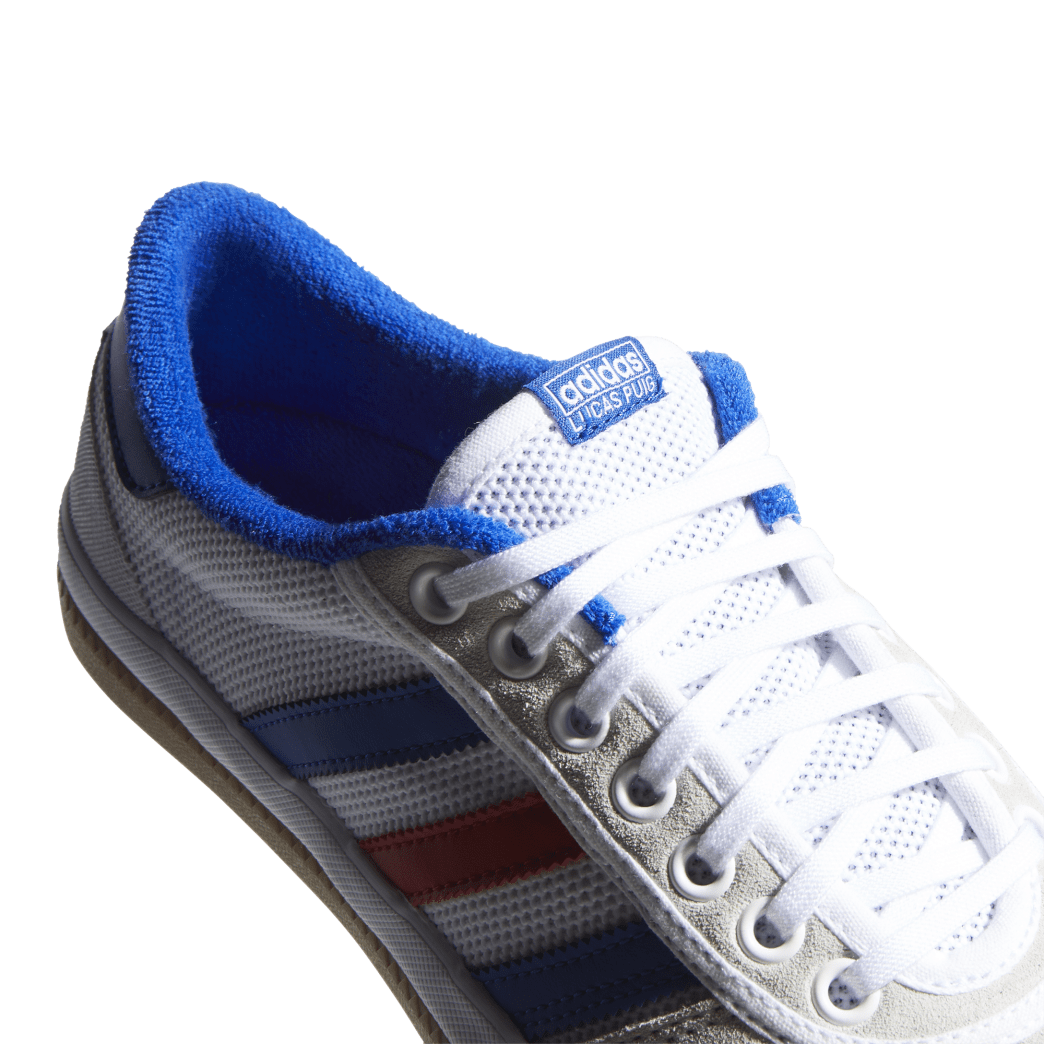 adidas Lucas Premiere Skate Shoes - FTWR White / Collegiate Royal / Crystal White | Shoes by adidas Skateboarding 7