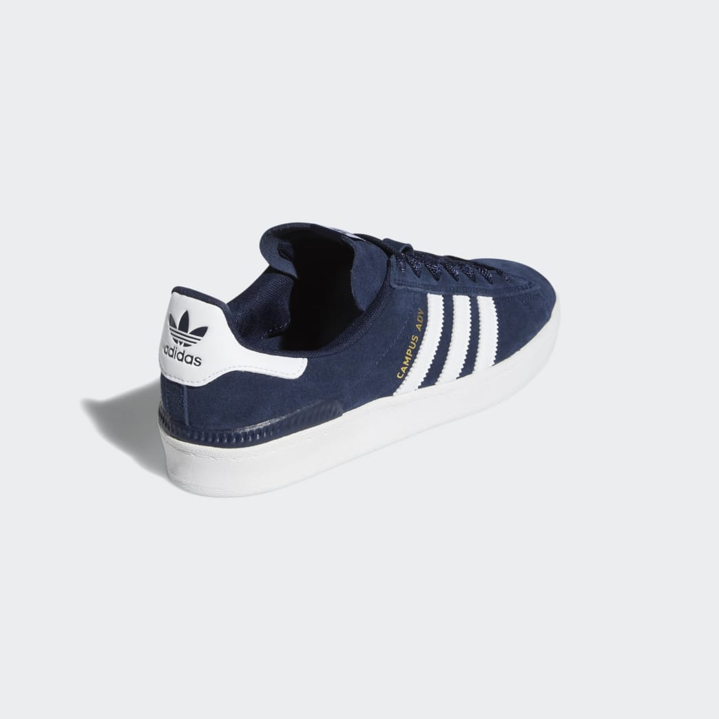 Adidas Campus ADV Shoes - Collegiate Navy/Cloud White/Cloud White | Shoes by adidas Skateboarding 6