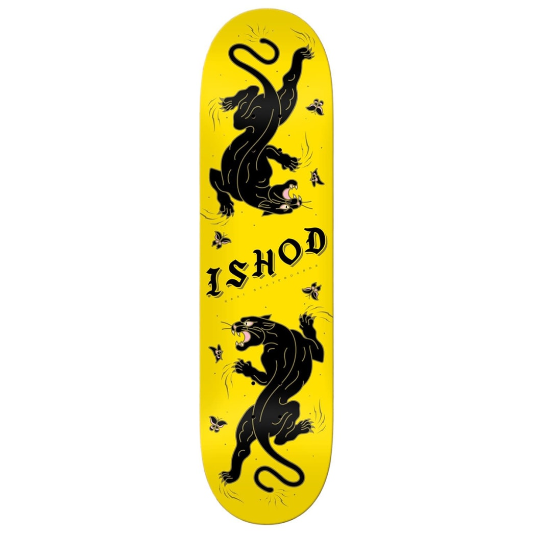Real Ishod Cat Scratch Deck 8.5 - Yellow | Deck by Real Skateboards 1